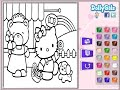 Hello Kitty Painting Games Hello Kitty Coloring Pages