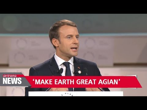 Macron steps up fight against climate change at