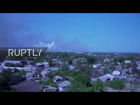 Ukraine: Arms depot in Kharkov goes up in flames