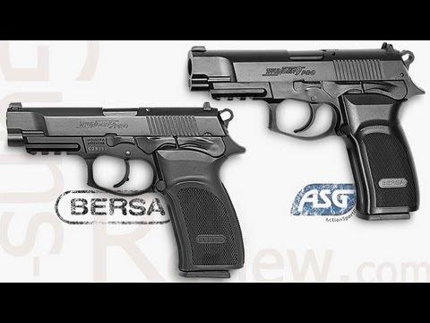BERSA Thunder 9 Pro, ASG Обзор Пневматической Копии от Guns-Review.com - YouTube