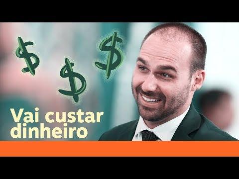 Eduardo Bolsonaro será o embaixador mais caro da história do Brasil