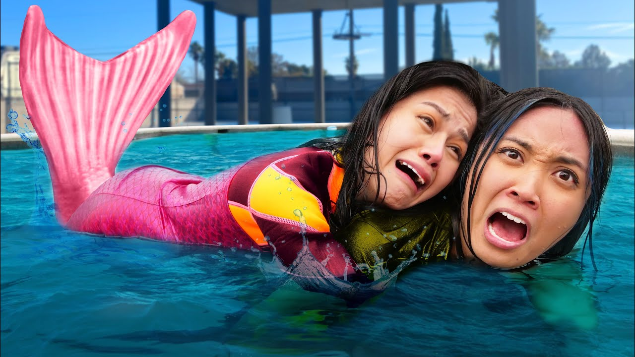 I CAN'T SWIM! Being a MERMAID for 24 hours! My Friend vs Funny Mermaid Situations by Spy Ninjas