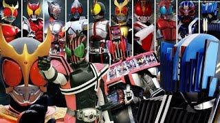 [仮面ライダーディケイド] 変身音集(セリフつき) Kamen Rider Decade henshin sound