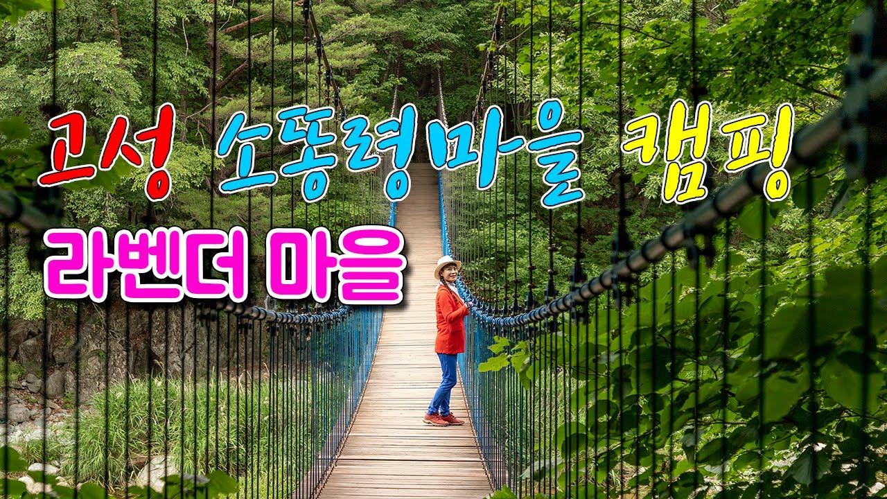 고성 여행 소똥령마을 캠핑,고성 장신야영장,고성 라벤더마을,고성 하늘다리/korea travel