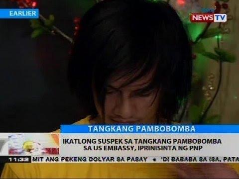 Ikatlong suspek sa tangkang pambobomba sa US Embassy, iprinisinta ng PNP