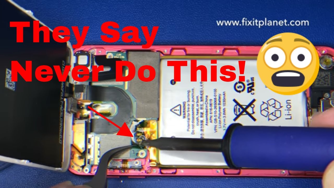 small resolution of ipod touch 5th gen battery replacement from start to finish youtube ipod usb cable wiring diagram ipod battery diagram