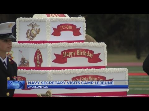 Secretary of Navy visits Camp Lejeune for early Marine Corps birthday