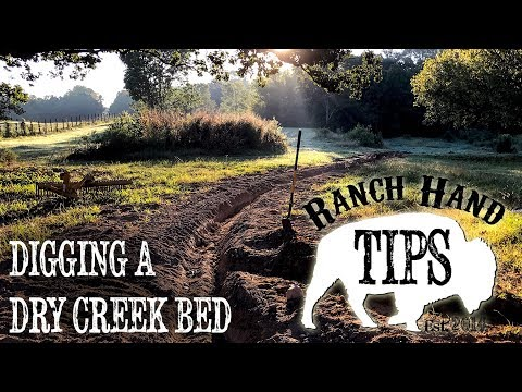 How to Dig a Dry Creek Bed - Ranch Hand Tips