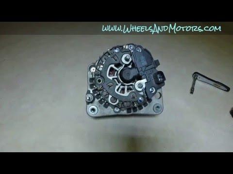 How to replace alternator brush holder (VW Golf Mk4) - alternator fix