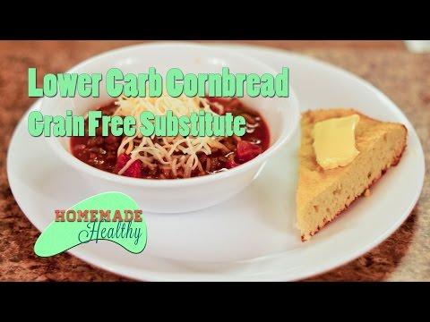 Lower Carb Cornbread Substitute with Grain-Free Coconut Flour