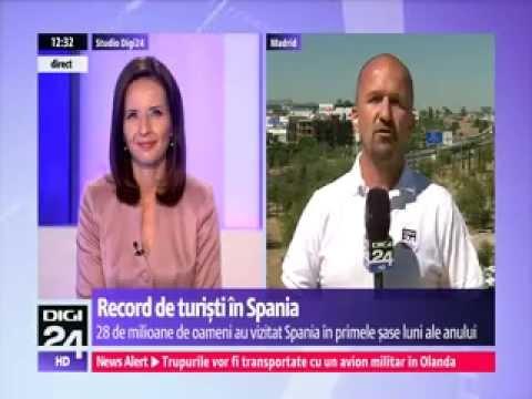 DIGI24 SPANIA Record de turiști în Spania