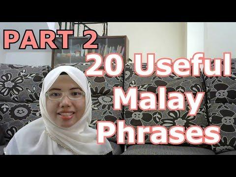 LEARN MALAY] 98-20 Useful Malay Phrases 1 - YouTube