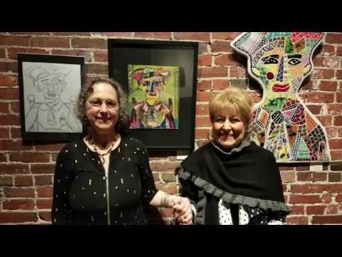 Two Women Making Art