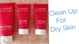 How to do Clean Up for Dry Dull Skin - Face Cleaning- Winter Clean Up at home l Using Lakme Products