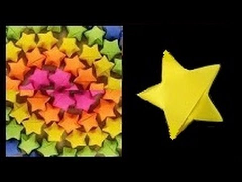 Origami lucky paper star   DIY paper decoration craft making at home