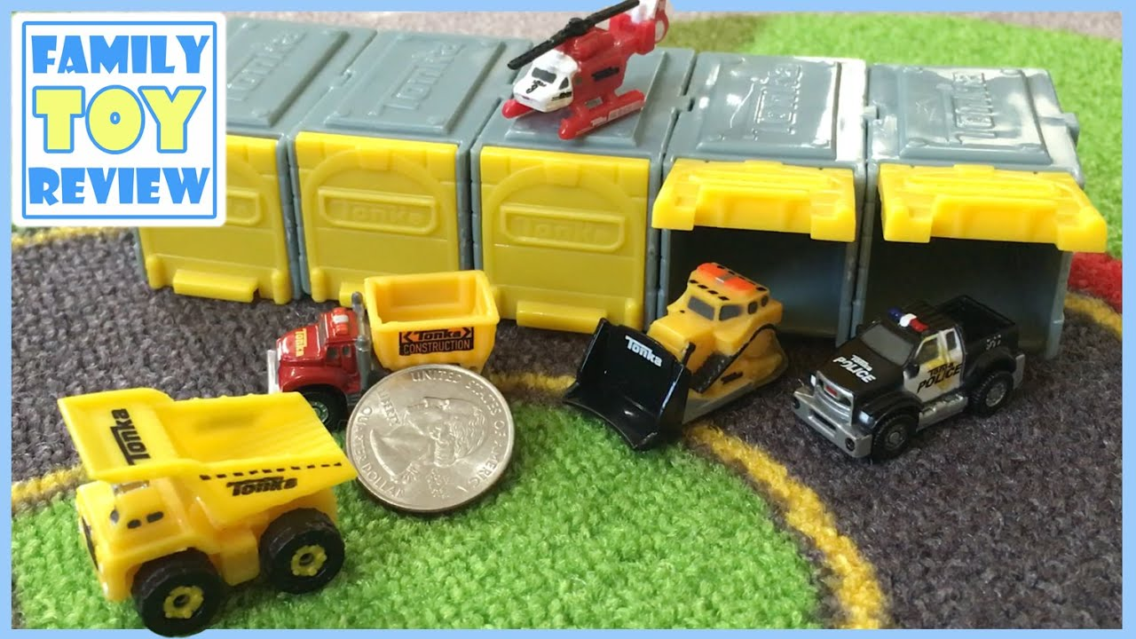 Mini Toy Trucks Tonka Tinys Construction Trucks Bulldozer
