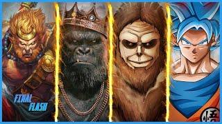 Goku Vs Sun Wukong Vs Beast Titan Vs Kong | Battle Of Giant Monkeys | Explained In Hindi | Detailed