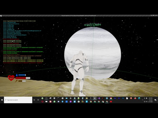 Ice Giant Planet Cyberia Update - Part 1 [UE4]