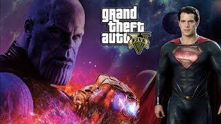 GTA 5 - SUPERMAN VS THANOS (GTA 5 PC MODS)