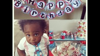 Brice's First Birthday! Dr Seuss Theme, Vlog, September 2014| TheForresterChronicles