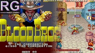 Blood Bros. - Arcade - Attract & Full playthrough / longplay in 2 players [1080p 60fps]