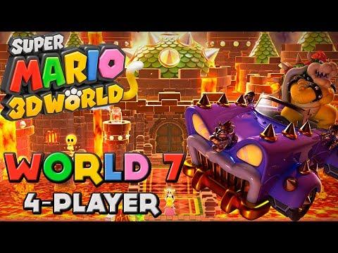 Super Mario 3d World World 7 4 Player Youtube