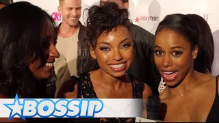 Taylour Paige & Logan Browning Talk Sexy Celebrities | BOSSIP