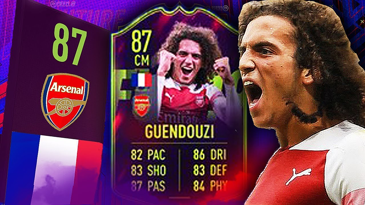 FIFA 19 FUTURE STARS GUENDOUZI REVIEW | GUENDOUZI  87 PLAYER REVIEW | FIFA 19 ULTIMATE TEAM