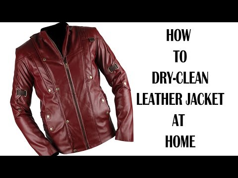 How To Dry Clean Leather Jacket At Home In English Cleaning Laundry