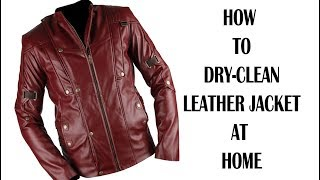 HOW TO DRY-CLEAN LEATHER JACKET AT HOME IN ENGLISH/Dry Cleaning In English/Laundry