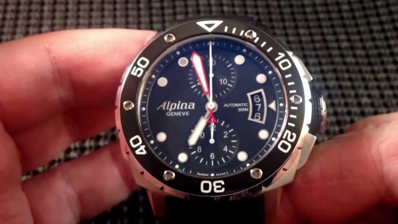 Alpina Extreme 300 Diver Chronograph AL-725LB4V26 Review - YouTube