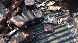 WW   Раскопки по войне в Демянском котле 65  Excavated Dugout SS Totenkopf