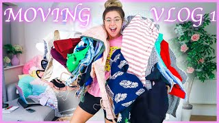 Moving Vlog 1 - Wardrobe Declutter and Starting To Pack