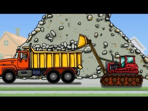 ►แมคโครตักดินบังคับ รถแม็คโครขุดดิน รถดั้ม รถก่อสร้าง วีดีโอสำหรับเด็ก Excavator kids