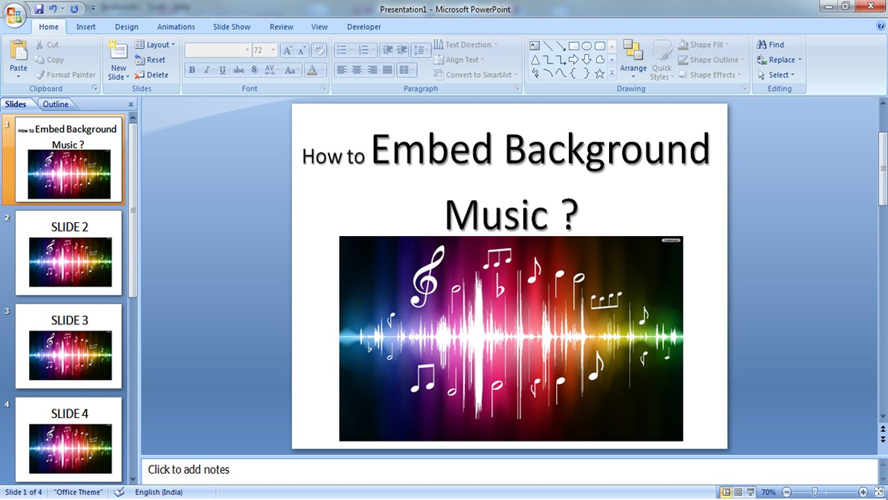 embed music into powerpoint