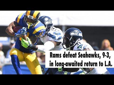 Rams win home opener, 9-3, over Seahawks