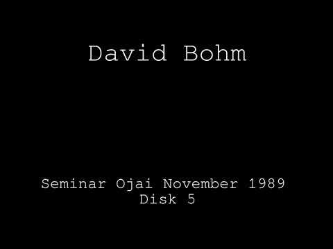 David Bohm Seminar 1989 Disk 5 - What is source of thought?