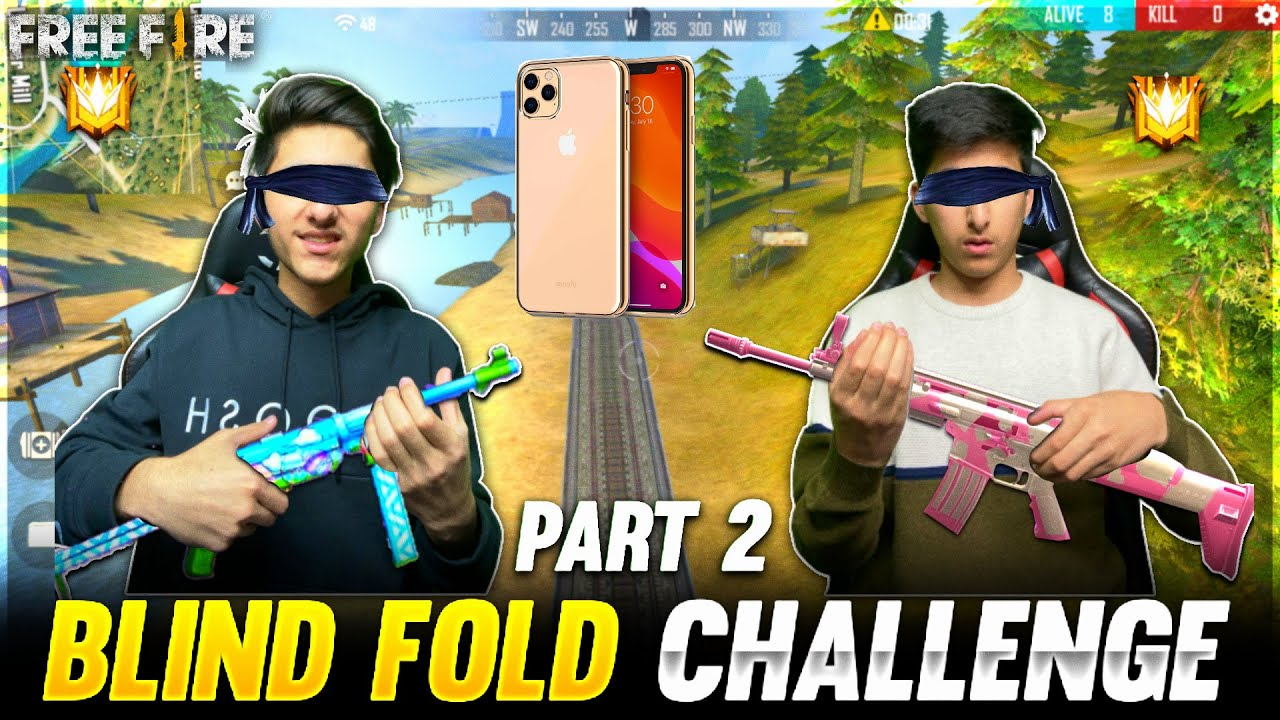 Blind Fold Challenge With My Brother Part - 2😂 Free Fire Clash Squad Gone Wrong😨- Garena Free Fire
