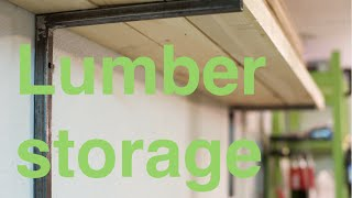 Quick And Sturdy Lumber Storage Rack.