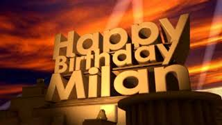 Happy Birthday Milan