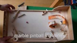homemade wood pinball machine (using regular marbles)