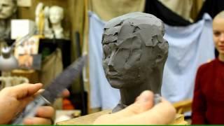 Пример лепки портрета - Обучение скульптуре. Портрет, 22 серия