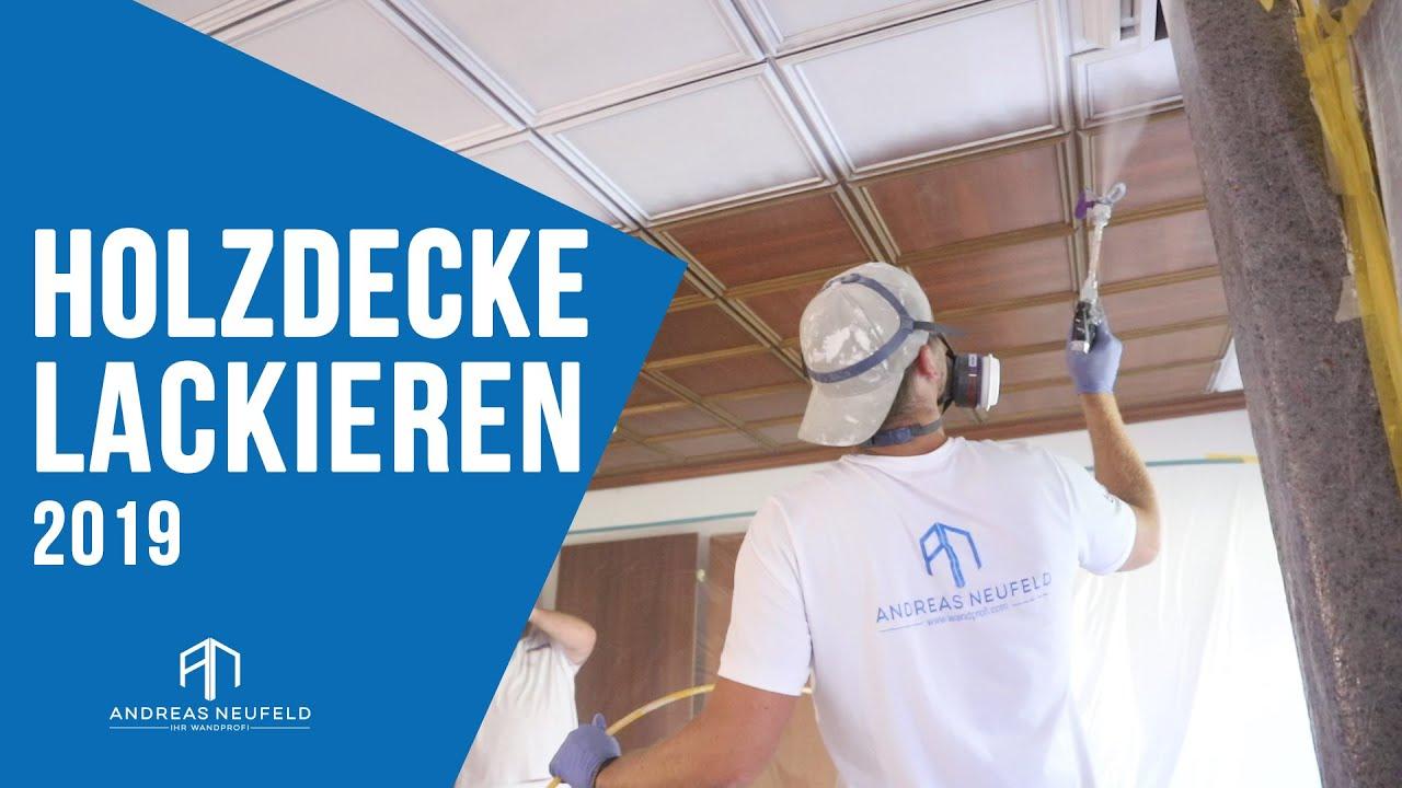 Holzdecke Lackieren Spritzen Mit Airless Gerat 2019