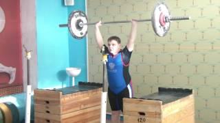 Бикмулин Илья, 11 лет  Толчок 40 кг на 2р