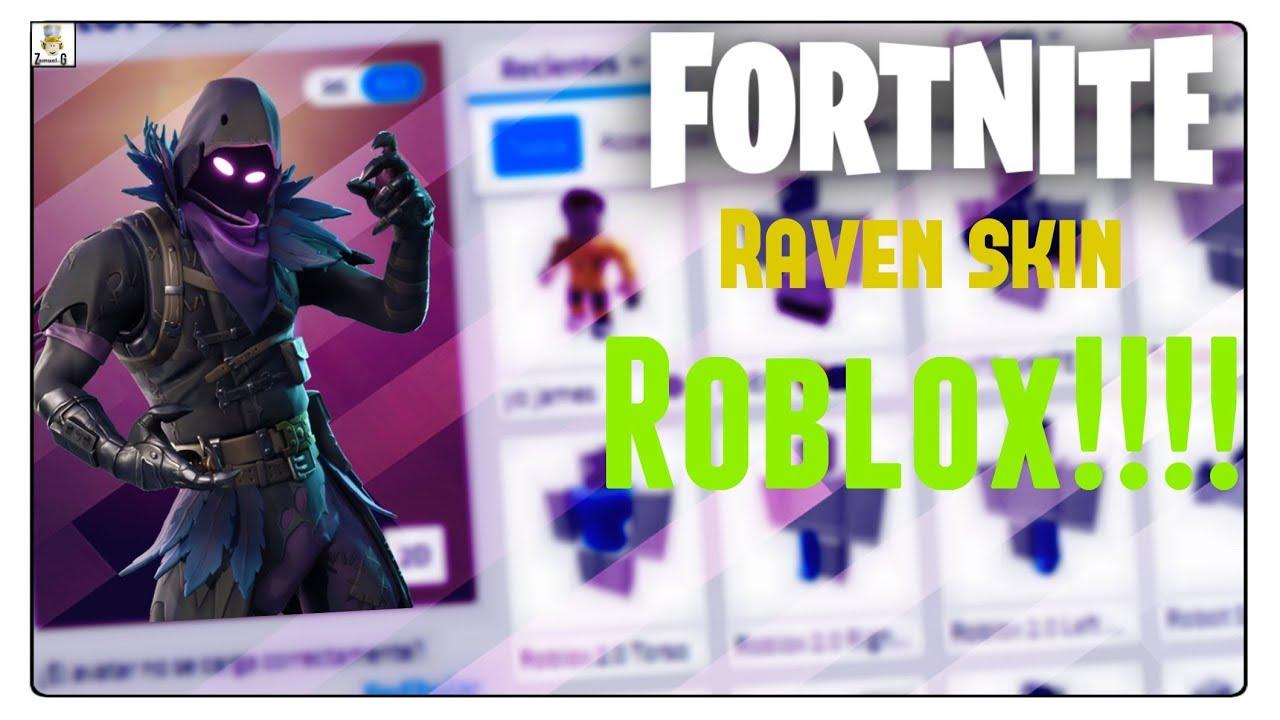 Haciendo El Personaje De Raven Fortnite En Roblox By Zamuel G - como vestirse como marshmello sin robux how to get robux