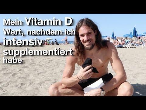 Mein Vitamin D Bluttest - Nahrungsergänzungsmittel 6 Wochen intensiv genommen!