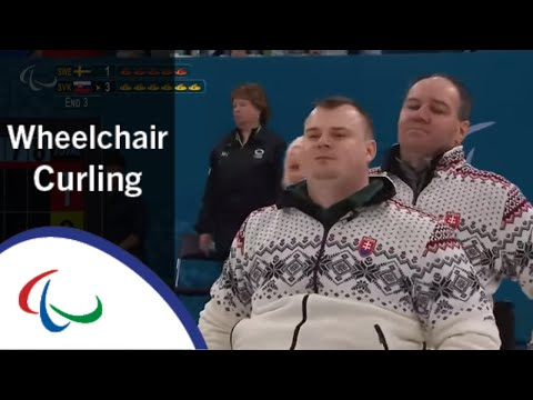 Wheelchair curling: Sweden v Slovakia  | Round Robin | 2018 Paralympic Games | LIVE