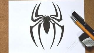 vuclip Como desenhar Aranha (Símbolo do Homem Aranha) passo a passo