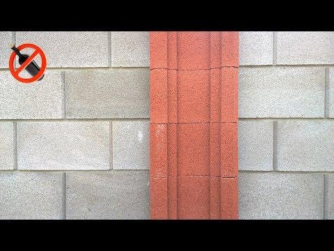 Забор из камня француз, горизонтальная расшивка