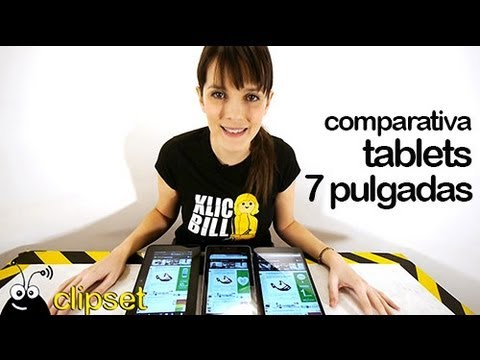 Comparativa tablets 7 pulgadas, Nexus 7, iPad mini, Kindle Fire HD